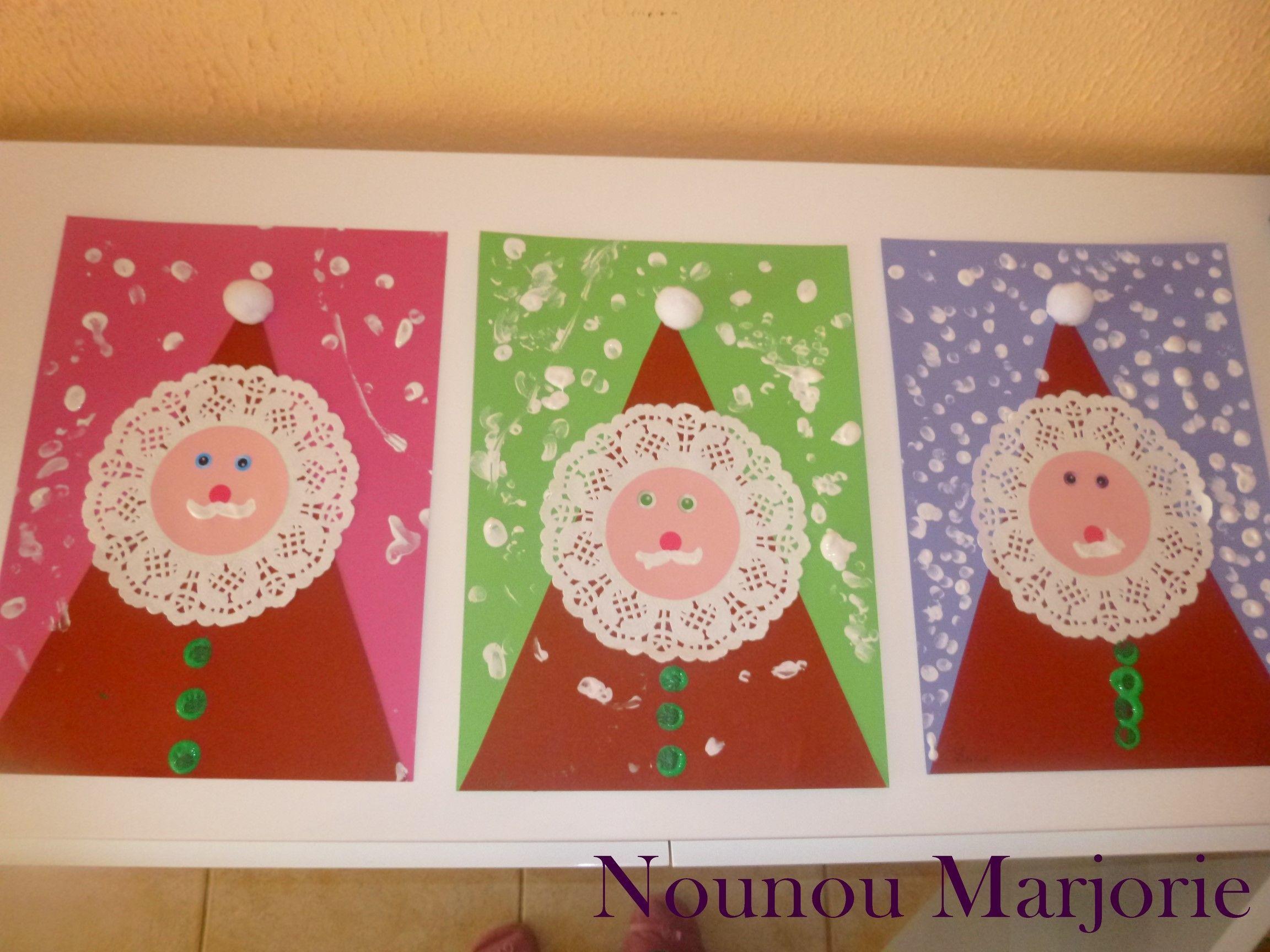 #8E3019 Père Noël Avec Des Napperons 5763 idées décoration noel maternelle 2304x1728 px @ aertt.com